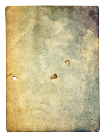 retro: Colorful old photo texture with stains and scratches isolated