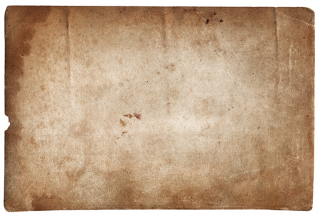 retro grunge: Old photo texture with stains and scratches isolated Stock Photo