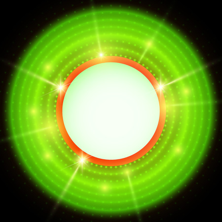 Abstract green and black background with circles. Vector illustration Vector