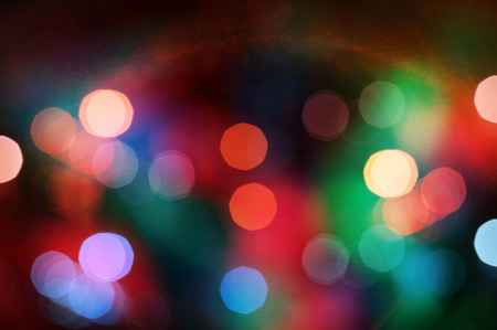 Abstract colorful background with defocused lights effect photo
