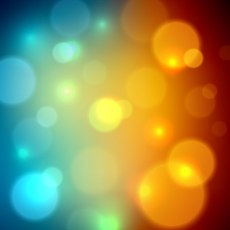 Abstract blurred bokeh effect background. Vector illustration