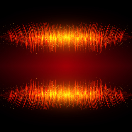 Abstract shining equalizer waveform. Vector illustration EPS10