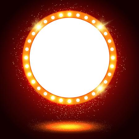 Abstract shining retro light banner. Vector illustration 版權商用圖片 - 44929701