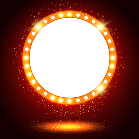 Abstrakte glänzende retro Licht Banner. Vektor-Illustration Standard-Bild - 44929701