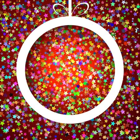 applique: Christmas applique background with ball. Vector illustration Illustration