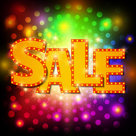 Sale background with shining effect. Vector illustration