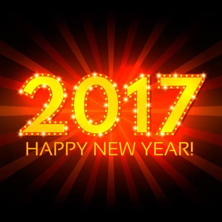 Happy New 2017 Year season background. Vector illustration