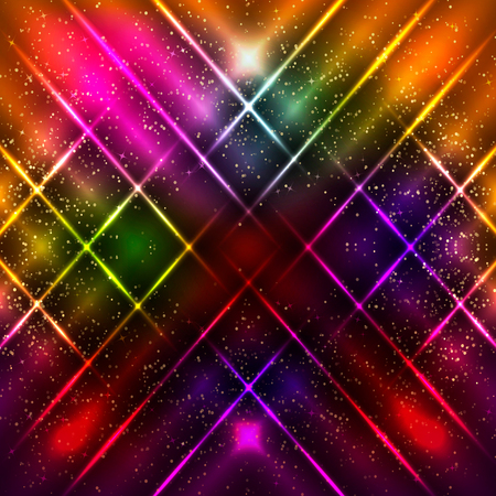 Abstract background with shining magic lights. Vector illustration