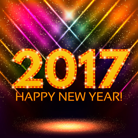 Happy New 2017 Year season background. Vector illustration