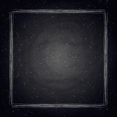 75304503 , 黒板黒板背景に空の境界線。ベクトル図