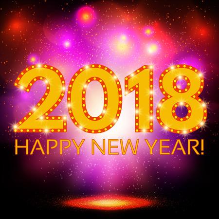 Happy New 2018 Year season background. Vector illustration Illustration