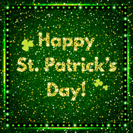 Happy St.Patricks Day with shining Background.