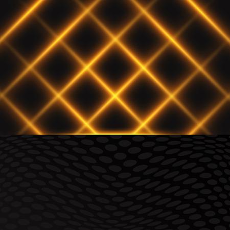 Luxury black and gold background. Design for presentation, concert, show. Vector illustration Ilustracja