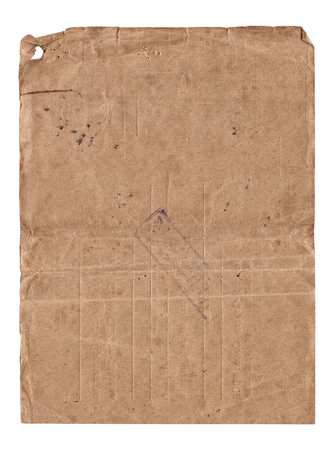 Old paper with scratches and stains texture isolated on white 版權商用圖片