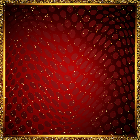 Luxury red and gold background. Design for presentation, concert, show. Vector illustration Vectores