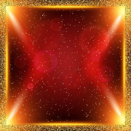 Shining abstract background with spotlights. Vector illustration