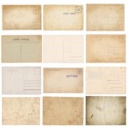 Set of various old vintage postcards isolated on white background Zdjęcie Seryjne - 122762411