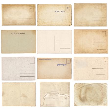 Set of various old vintage postcards isolated on white background Zdjęcie Seryjne - 122762410