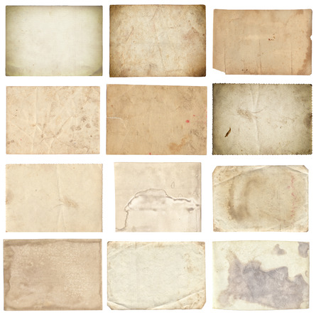 Set of various retro old photos isolated on white background Zdjęcie Seryjne - 122762412