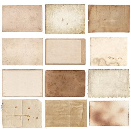 Conjunto de varias fotos antiguas retro aislado sobre fondo blanco.