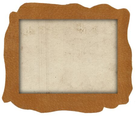 Brown natural leather texture with old photo paper texture background