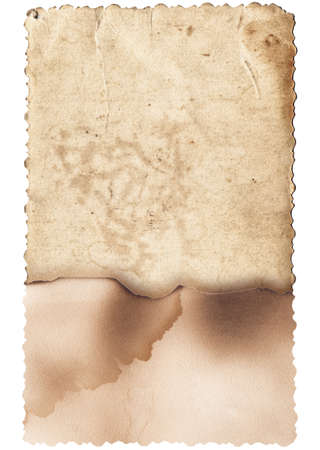 Old photo texture with stains and scratches isolated Stock Photo