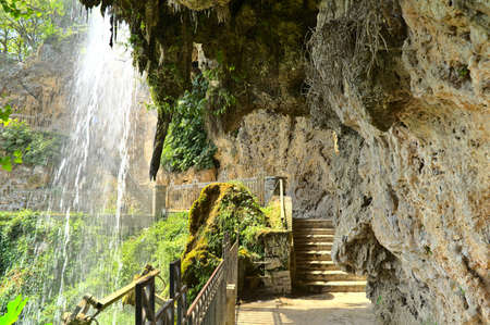 Edessa Waterfalls during summer with little water flow