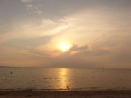 sunsets: Sunsets sea sand Stock Photo