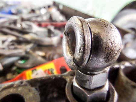 lighting technician: tools in old garage