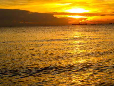 oversea: he last of sunlight  in oversea light and shadow