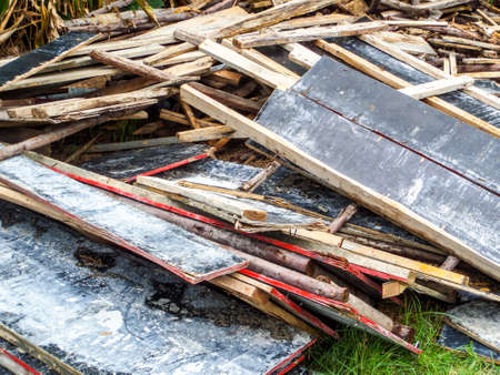 buildingsite: Used to support a work crew and materials Stock Photo