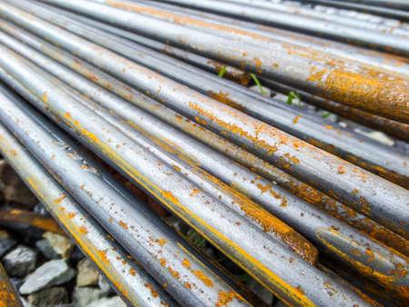 buildingsite: ROUND BARS STEEL rust