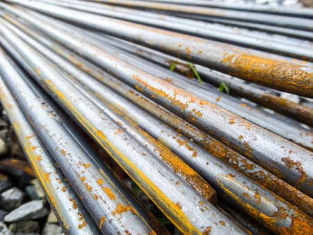 buildingsite: ROUND BARS STEEL has rust