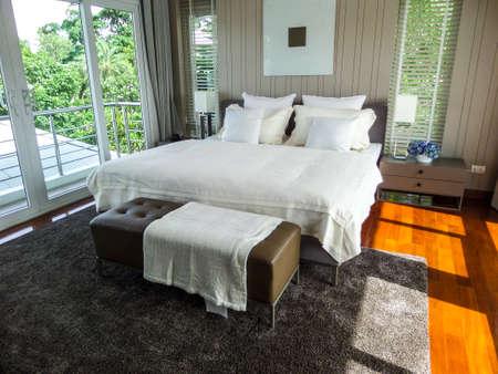 master bedroom: Master bedroom in sea breeze villa pattaya