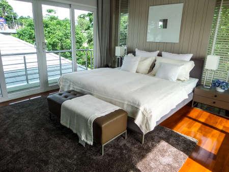 Master bedroom in sea breeze villa pattaya