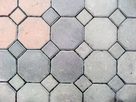 cement floor: Block floor background and texture, interior at home or building Stock Photo