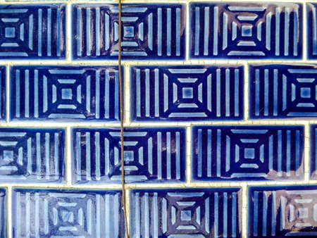 wall tile: Wall tile vintage style, chinese or asian culture Stock Photo