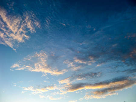 dramatic characters: Sky and cloud moving by wind in the evening