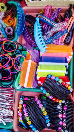 miscellaneous: miscellaneous of beauty object on local market Stock Photo