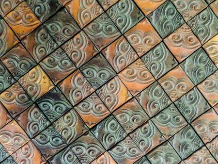 wall tile: mosaic clay wall tile