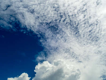 light complexion: White cloud blue sky in summer