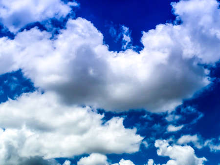 midday: Blue sky and white cloud and soft wind in midday