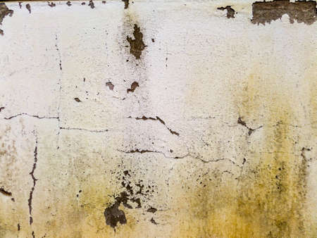 groundwater: Old wall has rust and erode when recieve water from an artesian well or groundwater