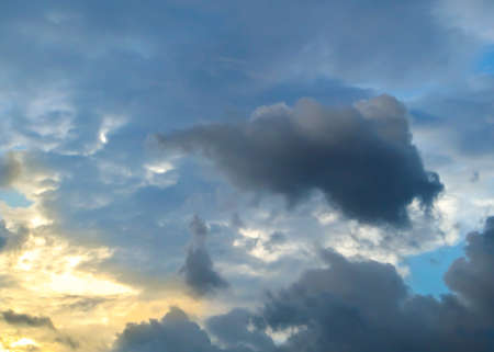 dramatic characters: Cloud and darkcloud level when sunsets in the twilight