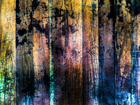 horizental: old wooden and shadow damage on surface