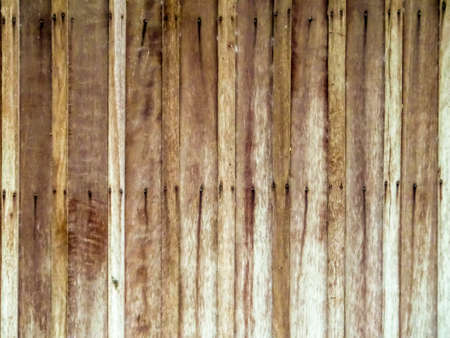 Vertical wooden and nails horizental line on surface background