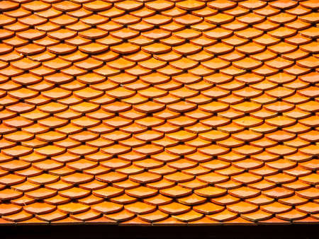 horizental: Roof horizental line pattern texture at buddha temple