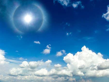 god bless: God bless sunshine and white cloud blue sky Stock Photo