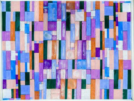 blue purple wood pieces vertical random muti-color background