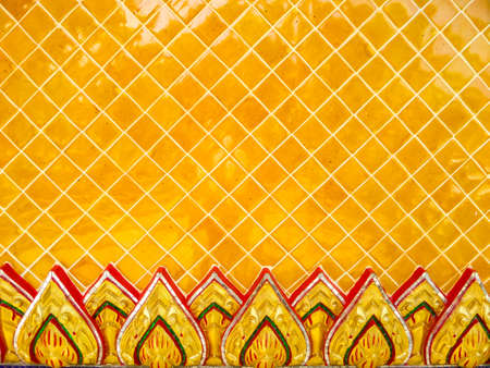 roof shingles: thai ceramic wall tile of temple vintage style